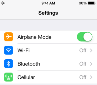 find focus and cut distractions by putting your phone in airplane mode