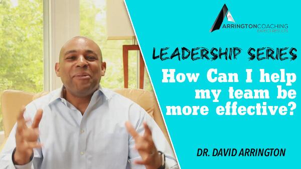 Executive Coach Dr David Arrington How can I help my team be more effective