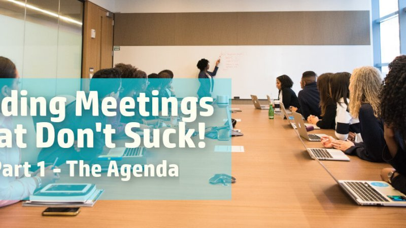 Leading productive meetings by creating a tight agenda