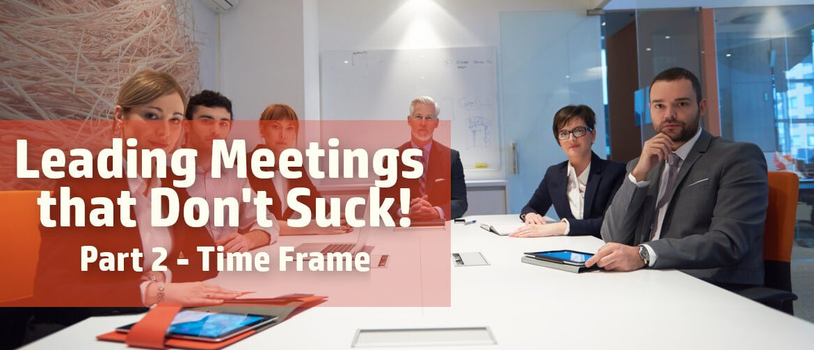 Leading productive meetings by staying on time
