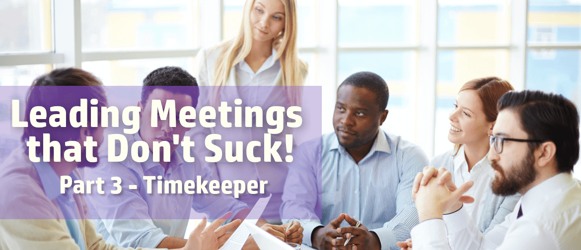 Leading more productive meetings with a timekeeper