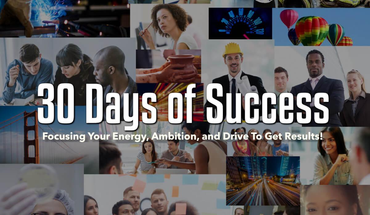 30 days of success productivity motivation